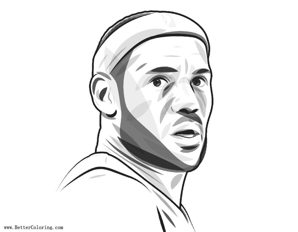 Lebron James Coloring Pages TBI Interview - Free Printable ...