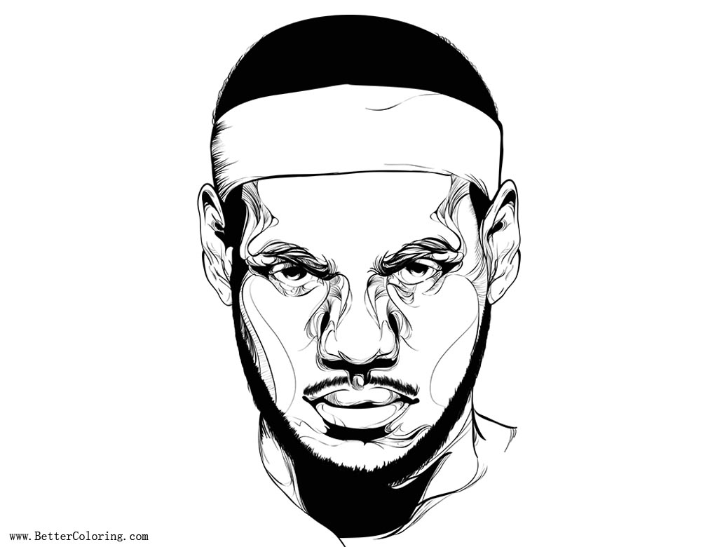 Free Lebron James Coloring Pages The King printable