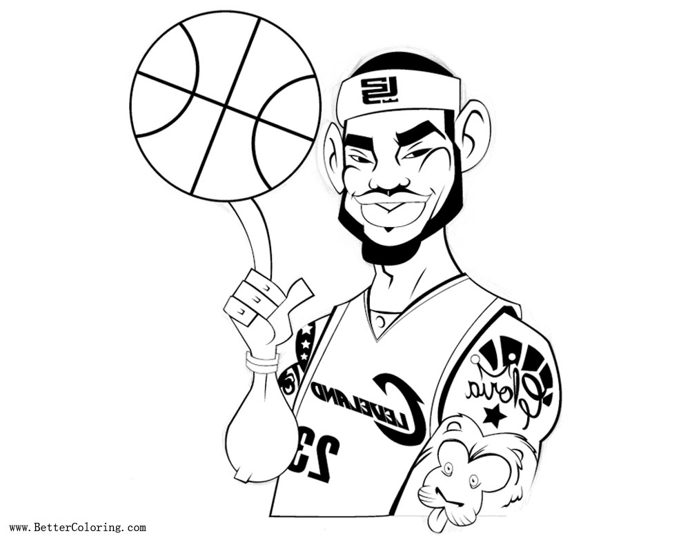 Lebron James Coloring Pages with