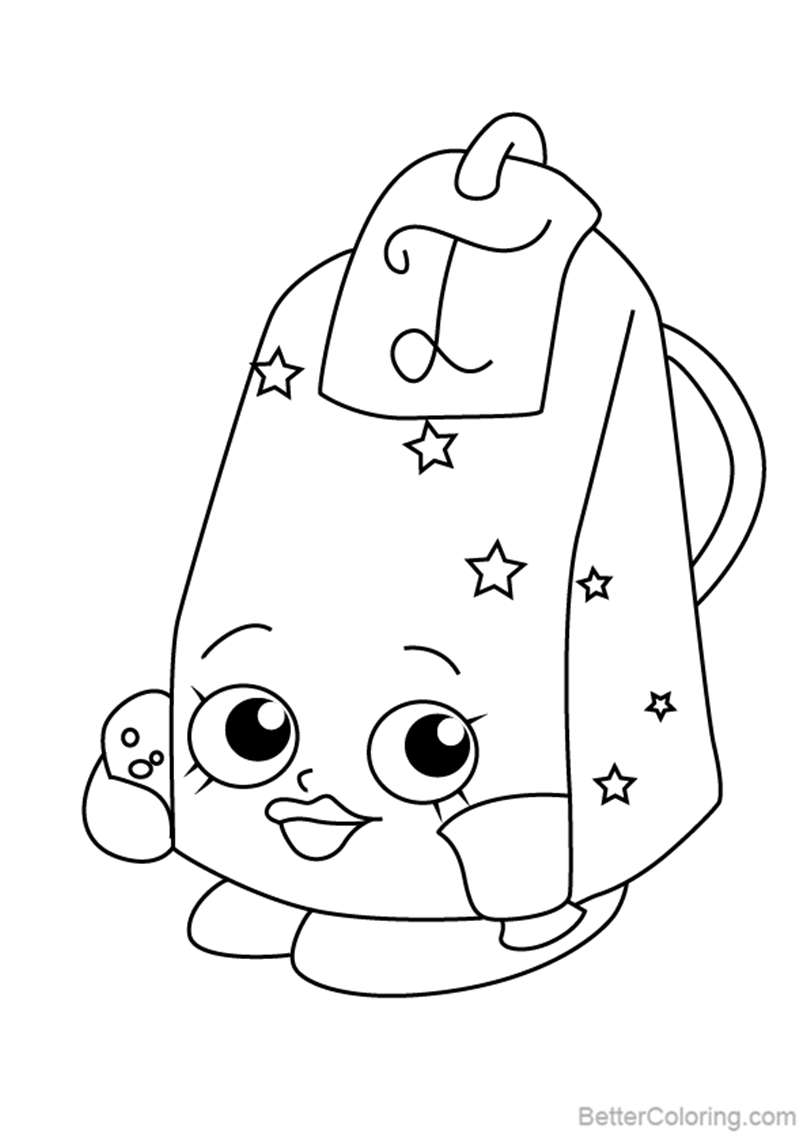 Free Lee Tea from Shopkins Coloring Pages printable