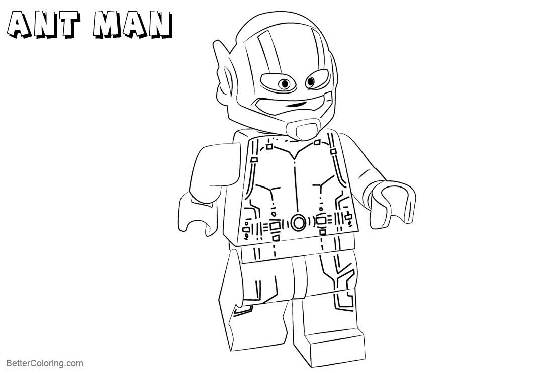 Free Lego Ant Man Coloring Pages printable