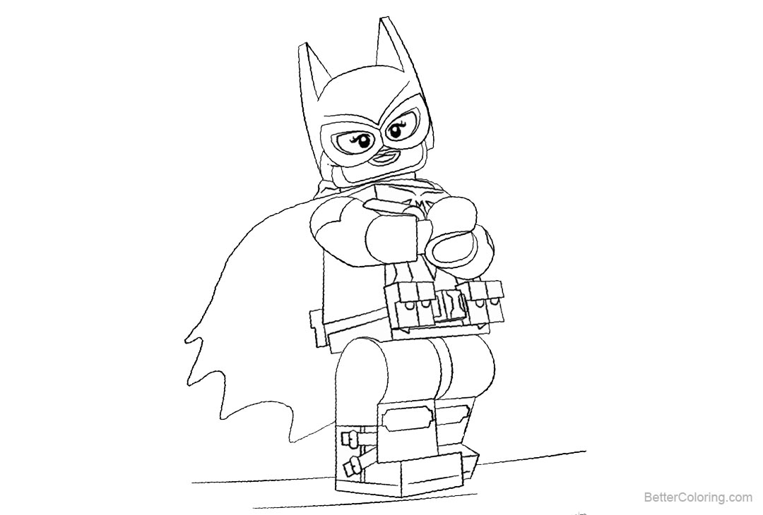 Free Lego Batgirl Coloring Pages Lineart printable