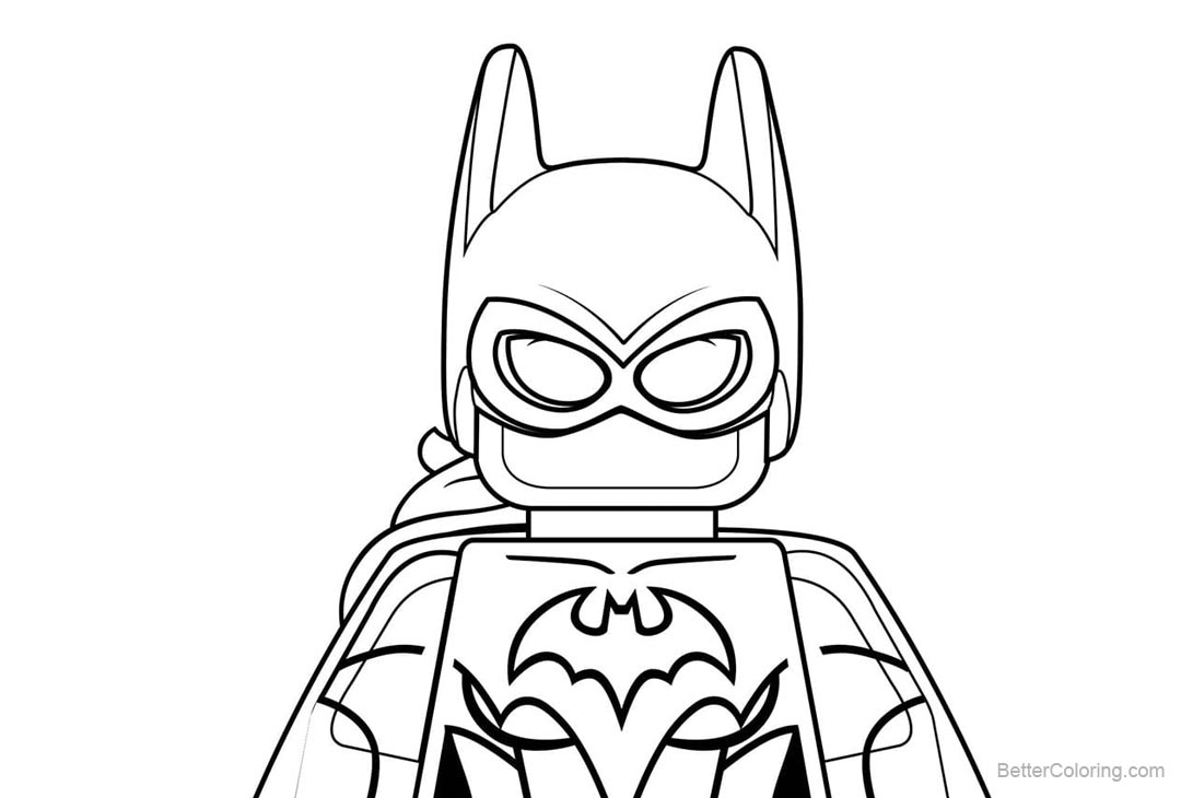 free lego batgirl coloring pages printable for kids and adults