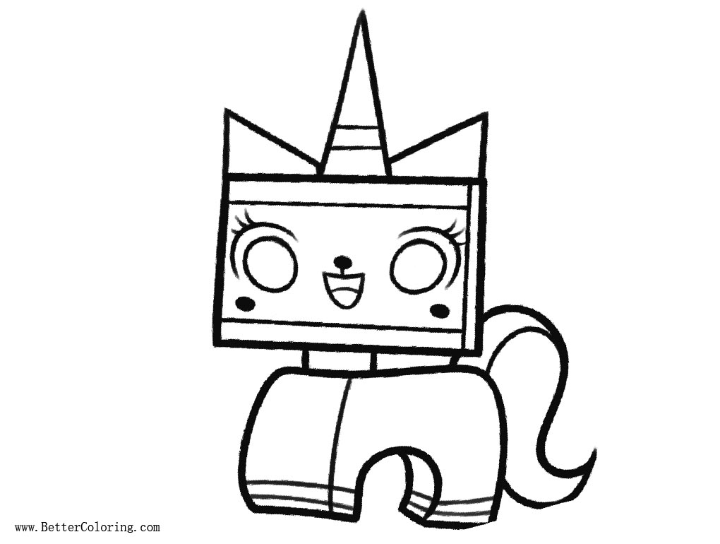 Free Lego Film Unikitty Coloring Pages printable