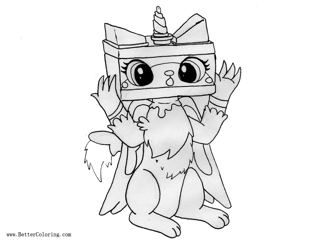 Lego Gabby to Unikitty Mask Coloring Pages by ...