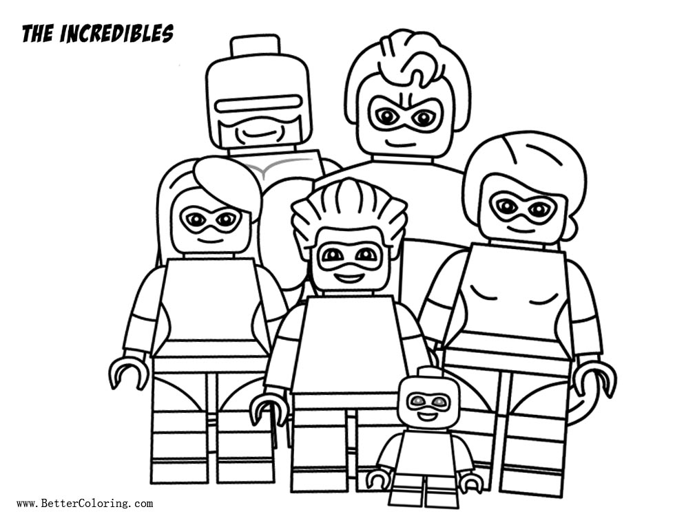 Free Lego Incredibles Coloring Pages printable