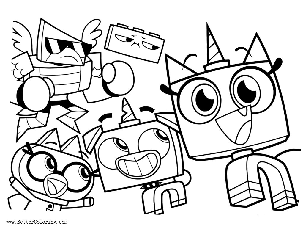 Lego Movie Unikitty Coloring Pages Characters