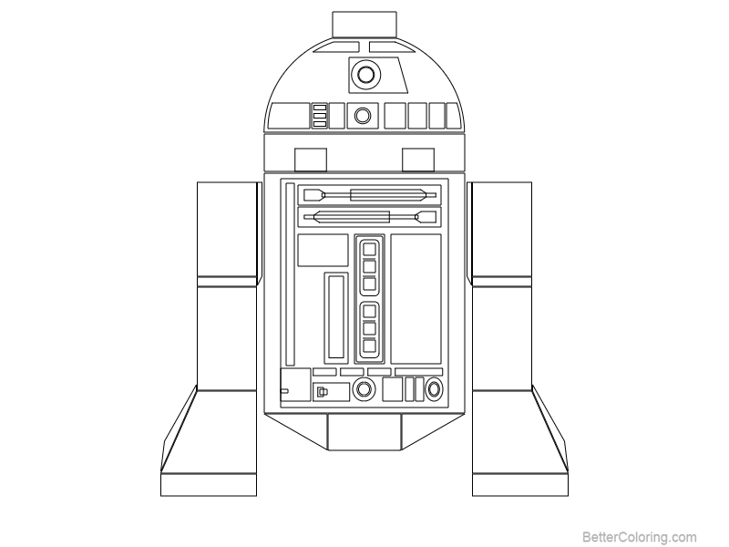 photo relating to R2d2 Printable named Lego R2D2 Coloring Webpages Define as a result of Michel Bozgounov - No cost
