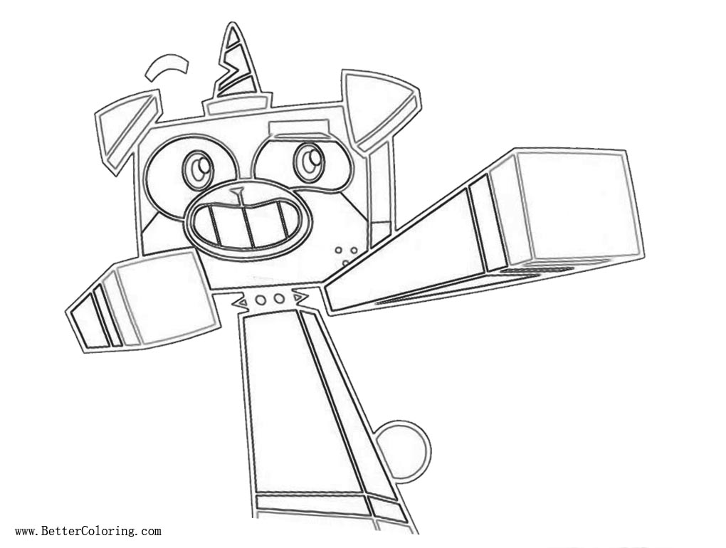 Leogo Princess Unikitty Coloring Pages with Prince