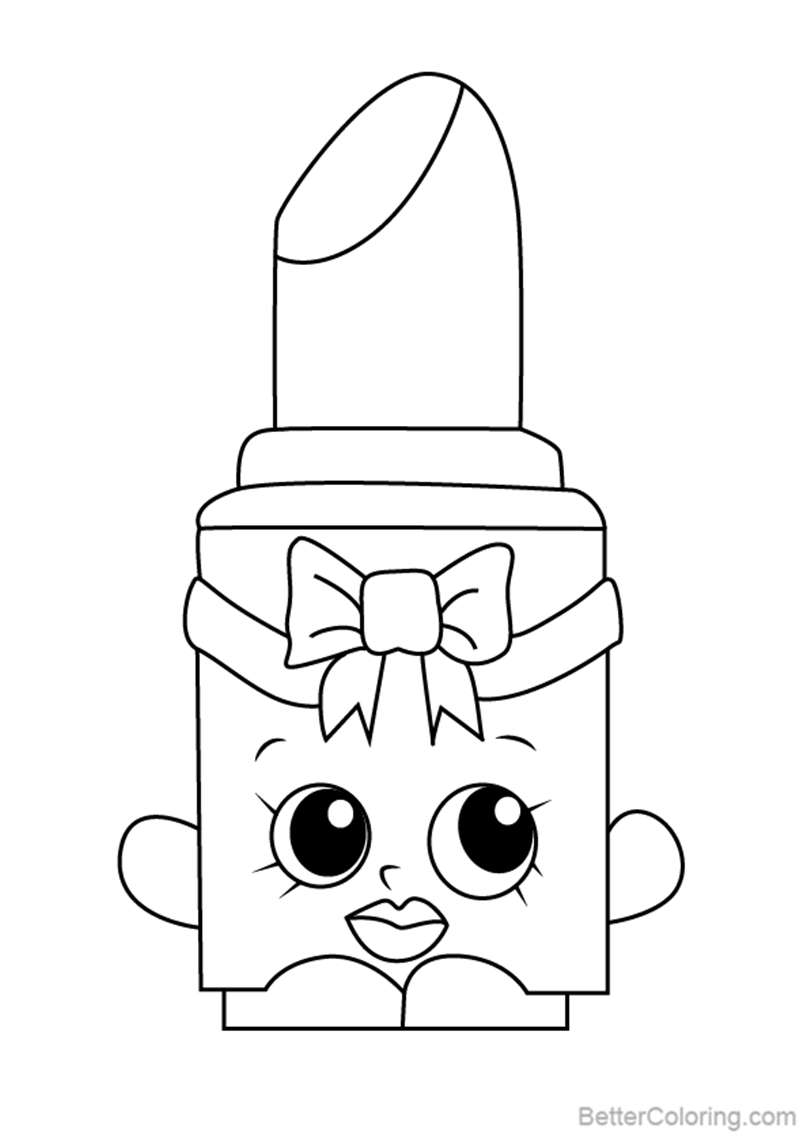 Free Lippo from Shopkins Coloring Pages printable