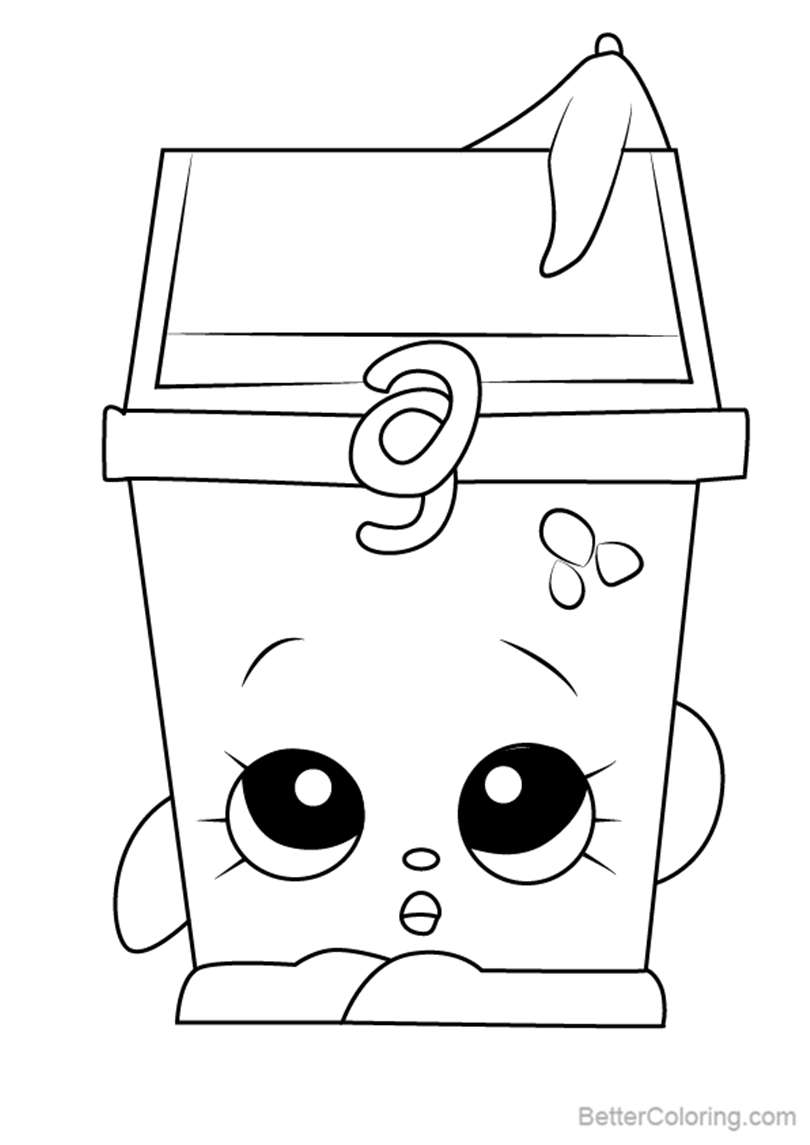Free Lisa Litter from Shopkins Coloring Pages printable