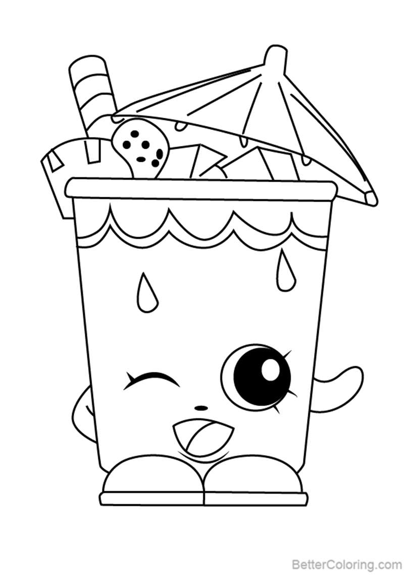Free Little Sipper from Shopkins Coloring Pages printable