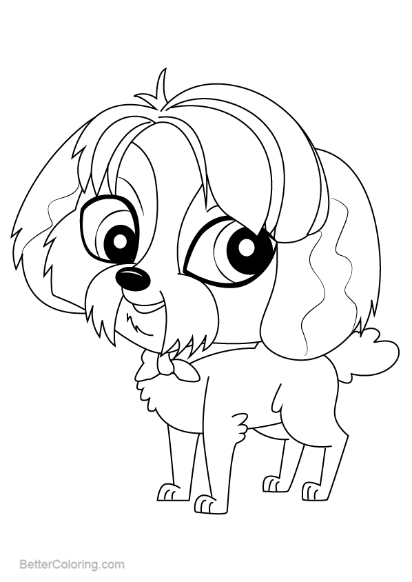 Free Littlest Pet Shop Coloring Pages Digby printable