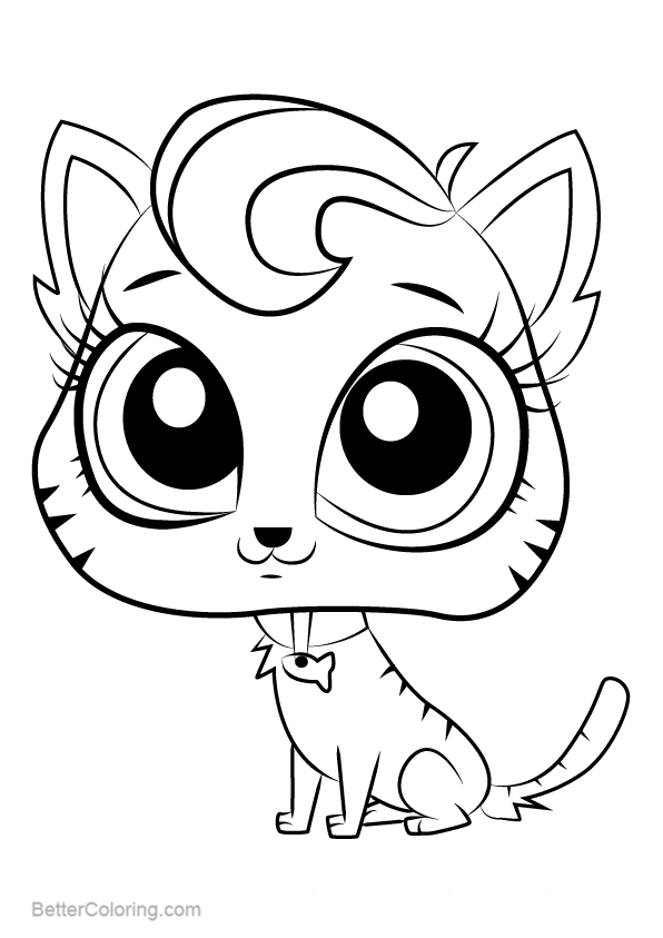 Littlest Pet Shop Coloring Pages Meow Meow Free
