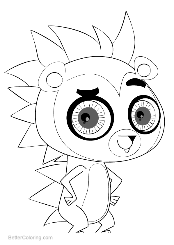 Free Littlest Pet Shop Coloring Pages Russell Ferguson printable