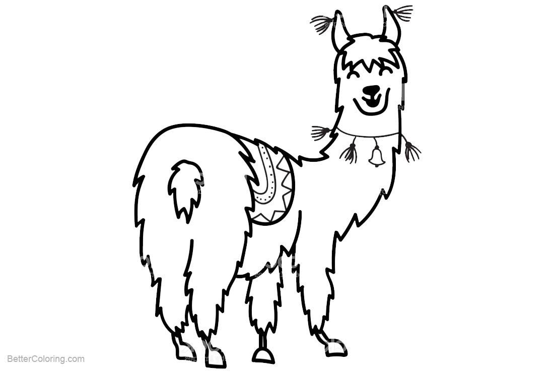 Free Llama Coloring Pages Cute South America Animal printable
