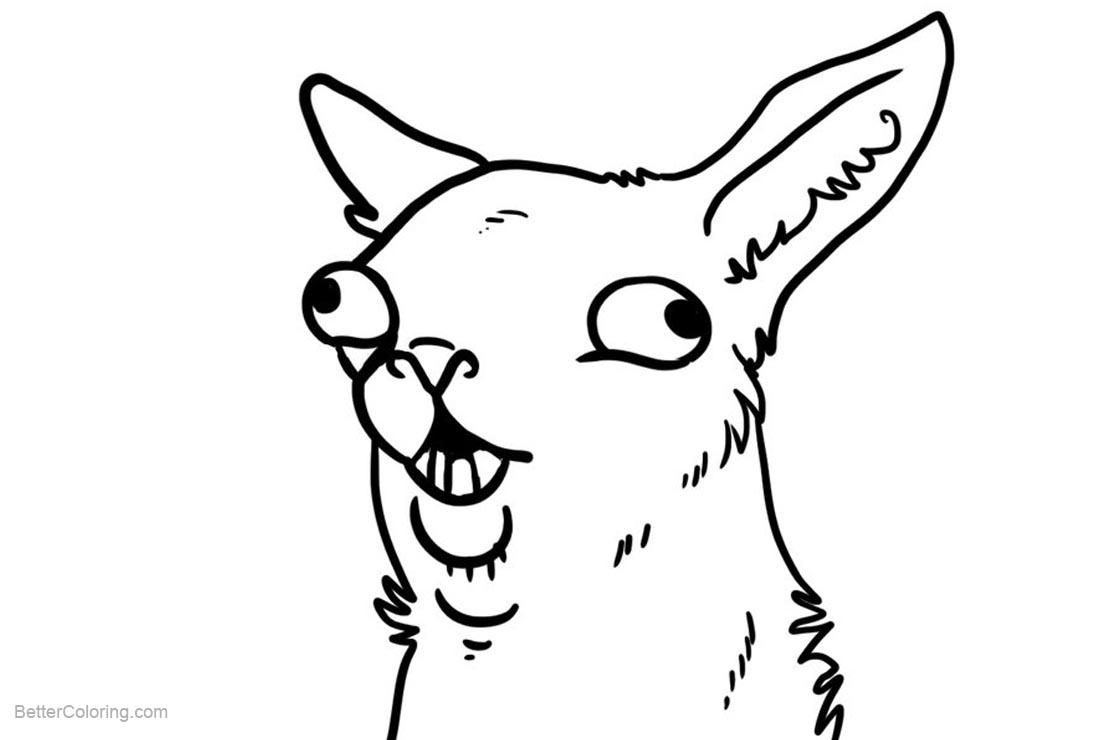 Llama Coloring Pages by Random Llamas - Free Printable Coloring Pages