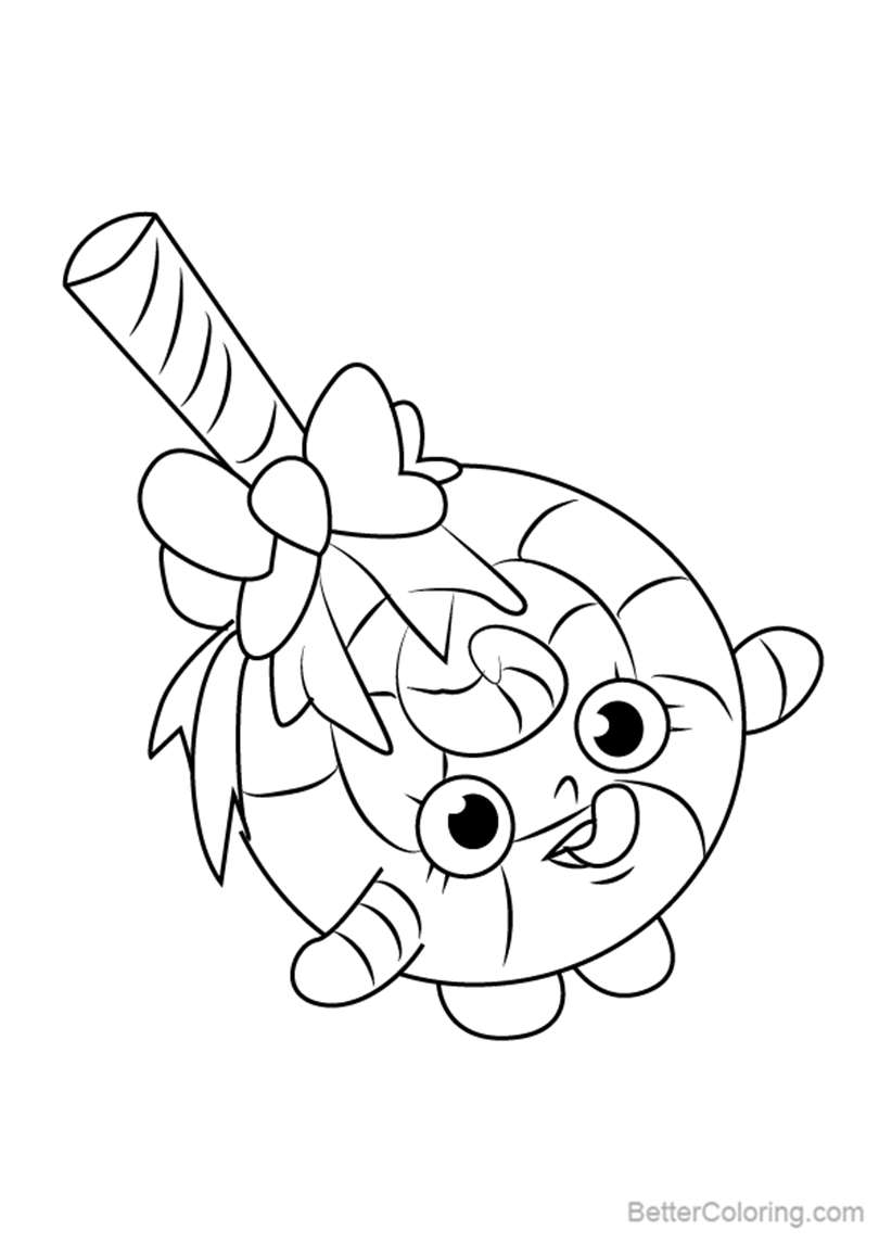 Free Lolli Poppins from Shopkins Coloring Pages printable