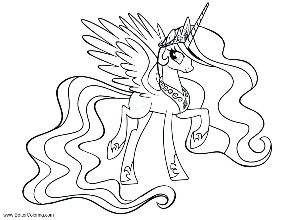 Free MLP Alicorn Coloring Pages Twilight Sparkle printable