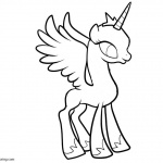 Alicorn Coloring Pages Free Printable Coloring Pages