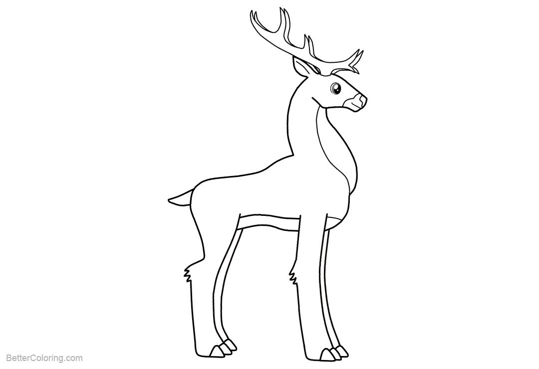 coloring pages reindeer mini - photo#40