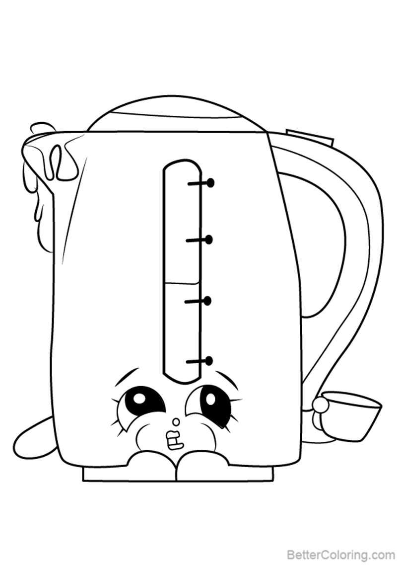 Free Ma Kettle from Shopkins Coloring Pages printable
