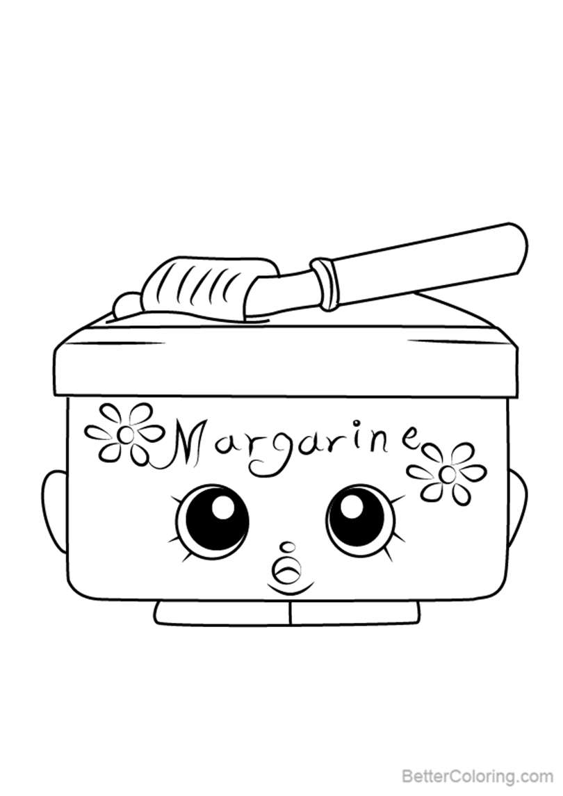 Free Margarina from Shopkins Coloring Pages printable