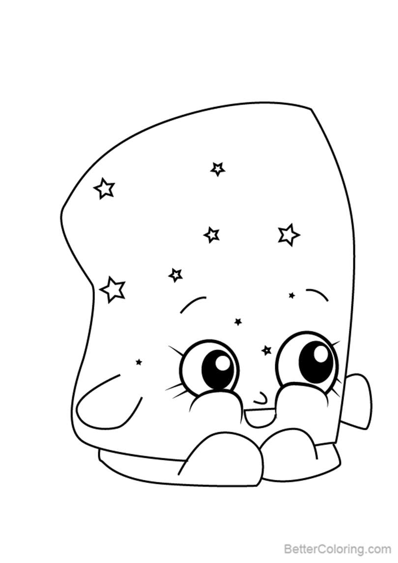 Free Marsha Mellow from Shopkins Coloring Pages printable