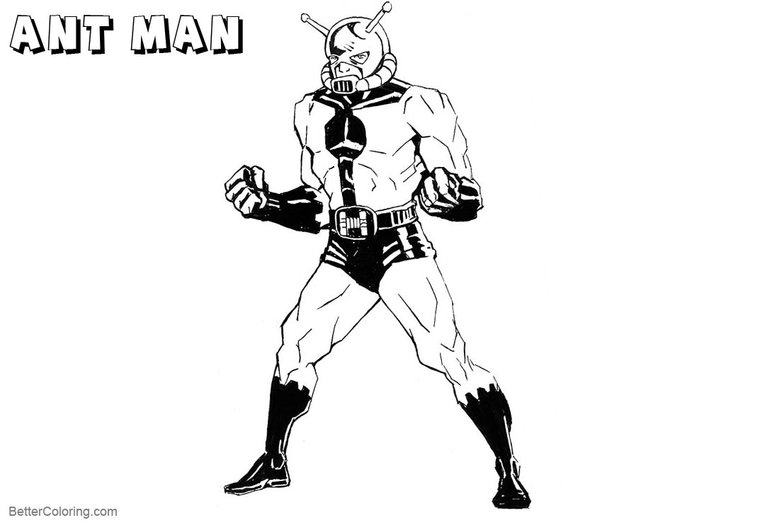 Free Marvel Ant Man Coloring Pages printable