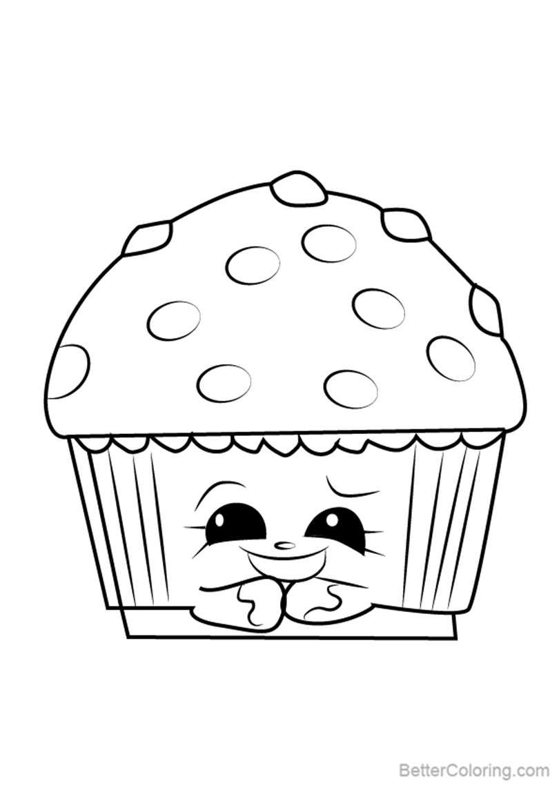 Free Mary Muffin from Shopkins Coloring Pages printable
