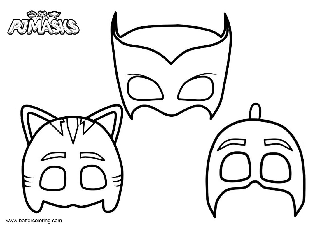 Masks of PJ Masks Catboy Coloring