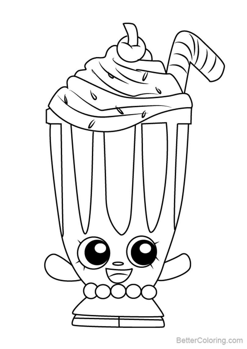 Free Millie Shake from Shopkins Coloring Pages printable