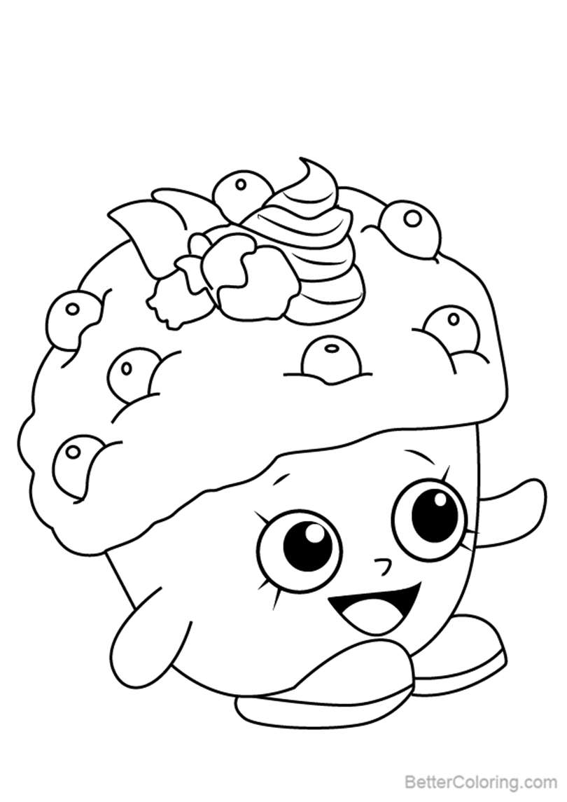 Mini Muffin from Shopkins Coloring Pages - Free Printable Coloring Pages