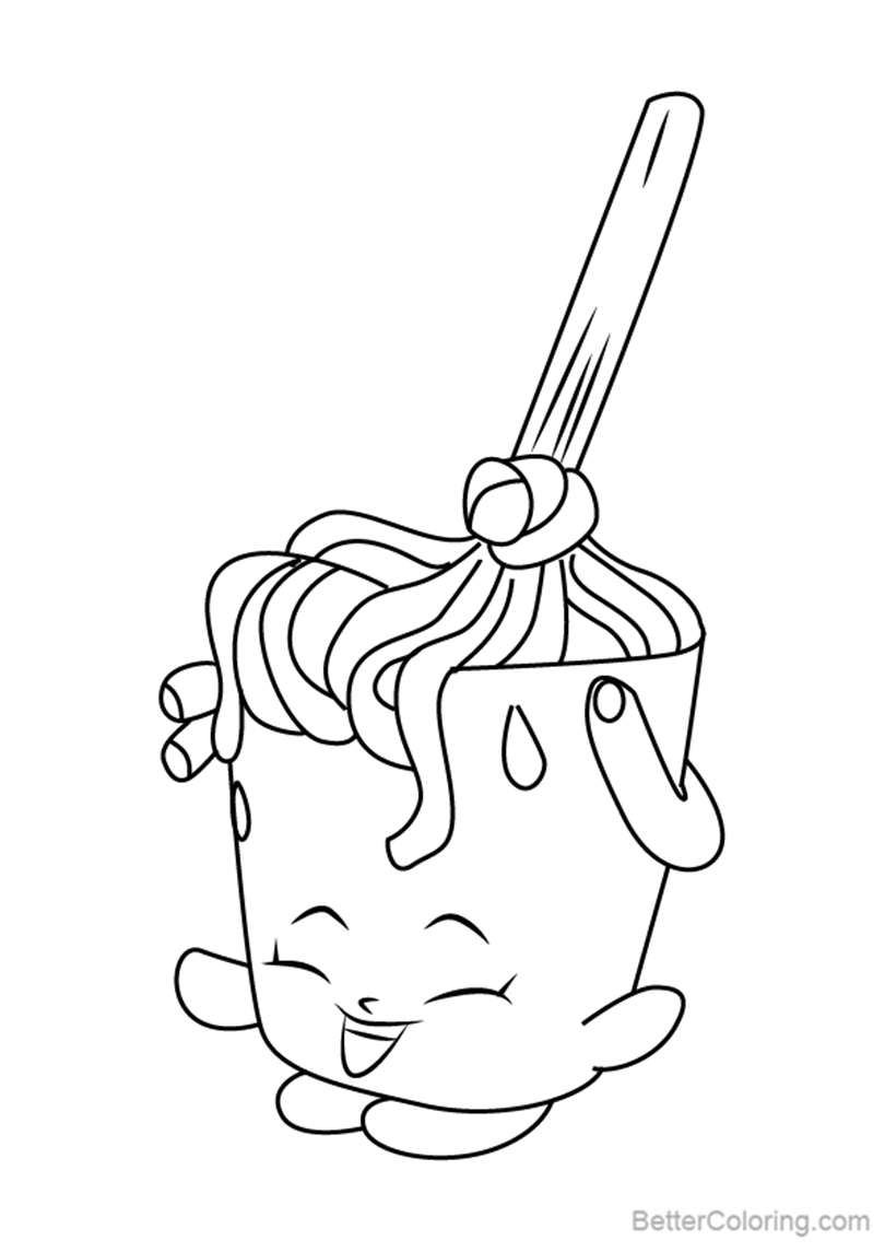 Free Molly Mops from Shopkins Coloring Pages printable