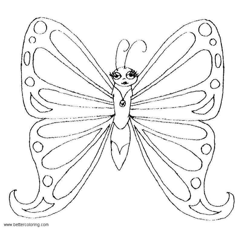 free monarch butterfly coloring pages printable for kids and adults