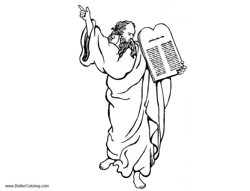 Moses and Ten Commandments Coloring Pages - Free Printable ...