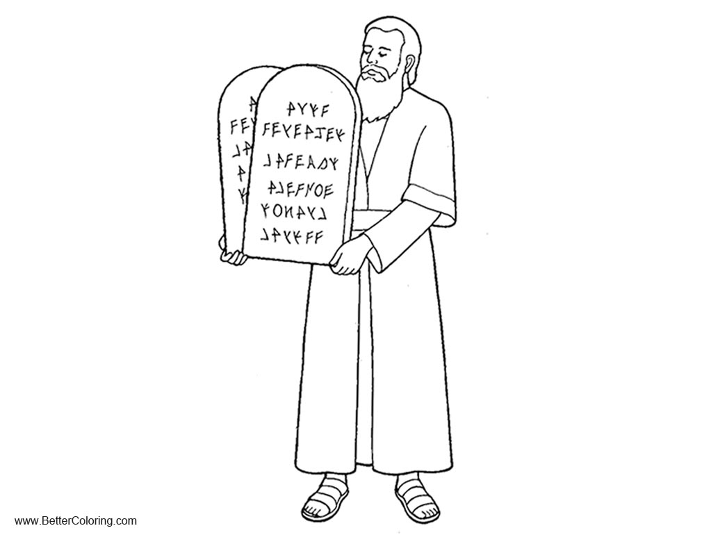 picture relating to Free Printable Ten Commandments named Moses with 10 Commandments Coloring Webpages - Totally free Printable