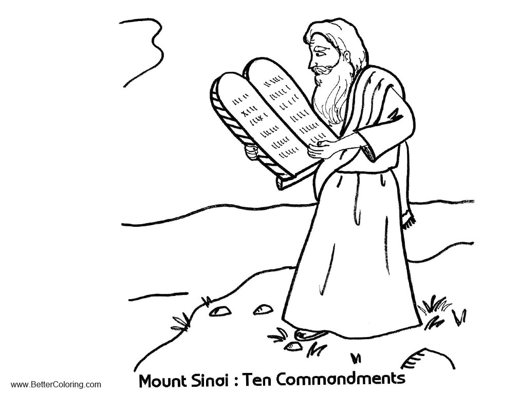 Free Mount Sinai Ten Commandments Coloring Pages printable