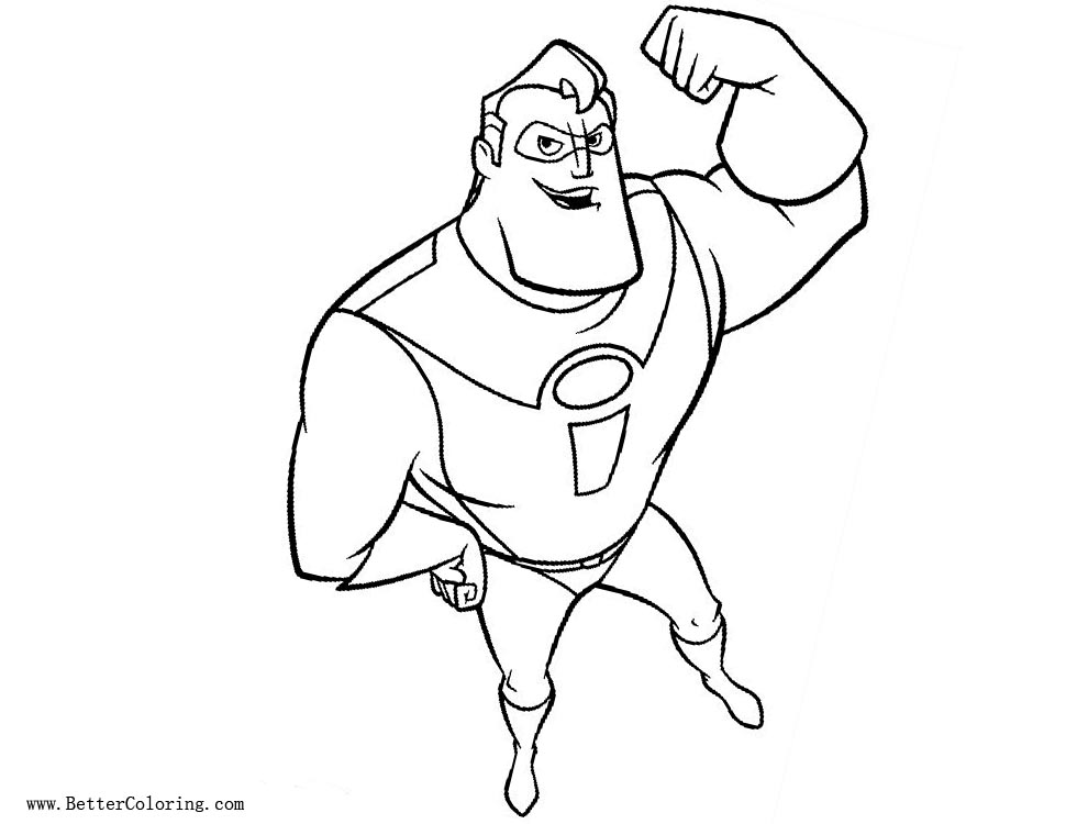 Free Mr Incredible Coloring Pages printable