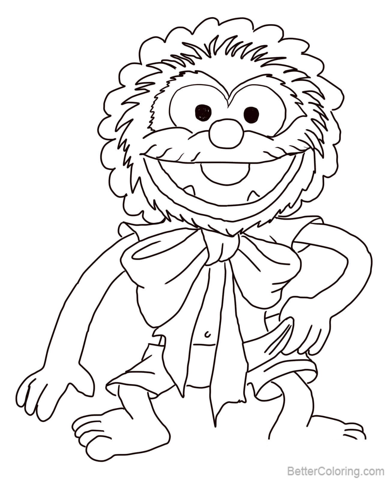 Muppet babies coloring pages baby animals free printable Coloring book 10 baby animals
