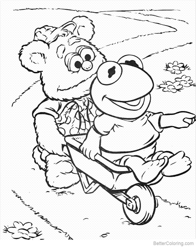 Muppet Babies Coloring Pages Bear and Frog - Free ...