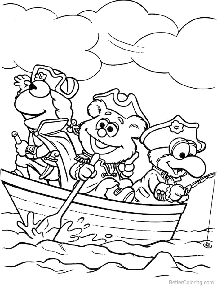 Muppet Babies Coloring Pages Fishing - Free Printable ...