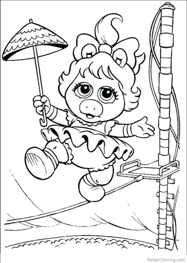 muppet babies coloring pages high wire act