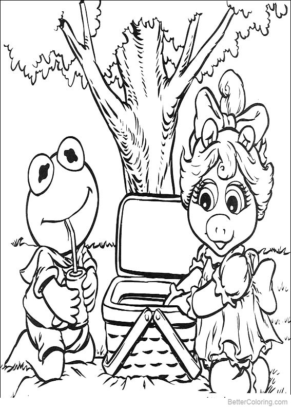 Free Muppet Babies Coloring Pages Picnic printable