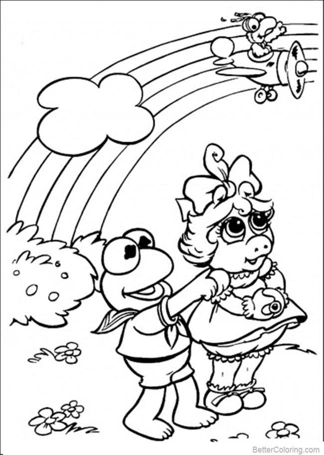 Free Muppet Babies Coloring Pages Rainbow printable