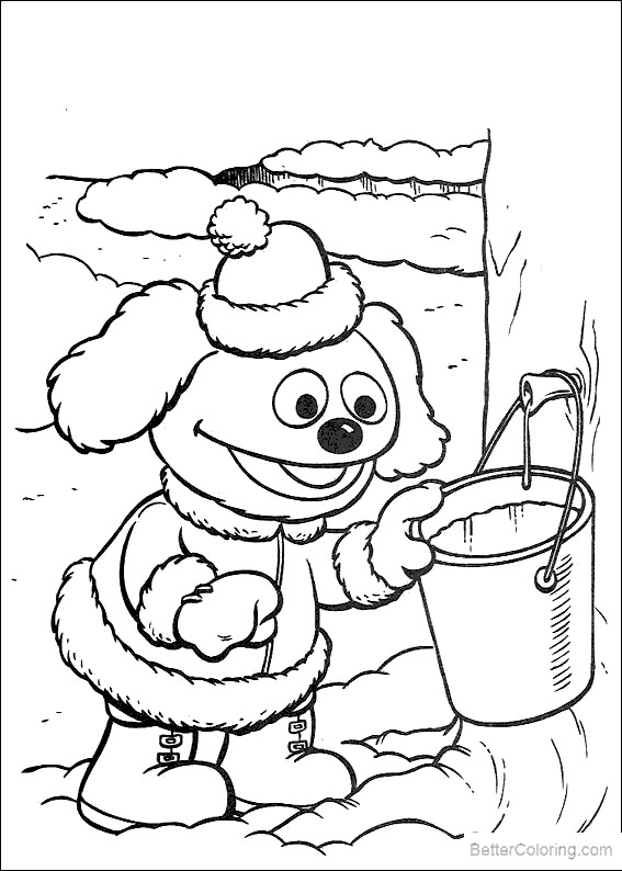 Free Muppet Babies Coloring Pages Winter printable