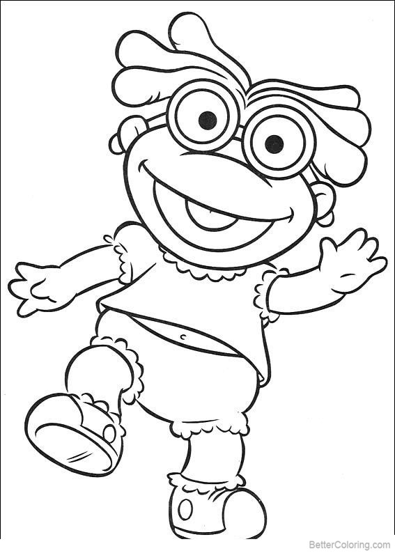 Free Muppet Babies Coloring Pages printable