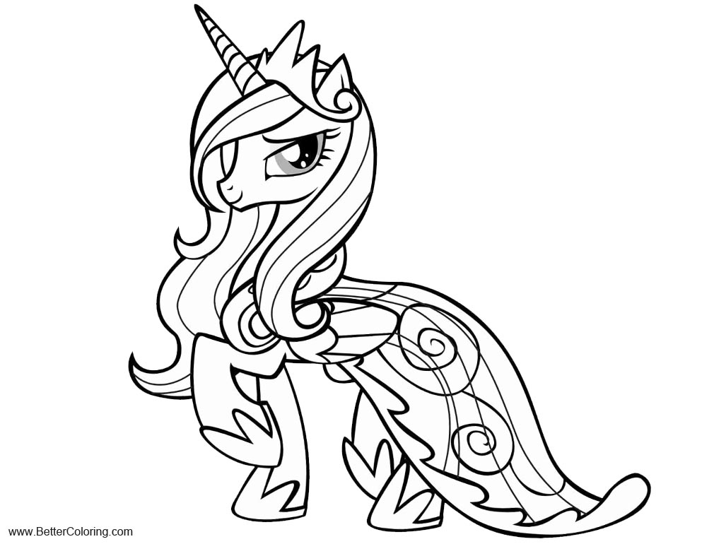 Free My Little Pony Alicorn Coloring Pages Princess Cadence printable