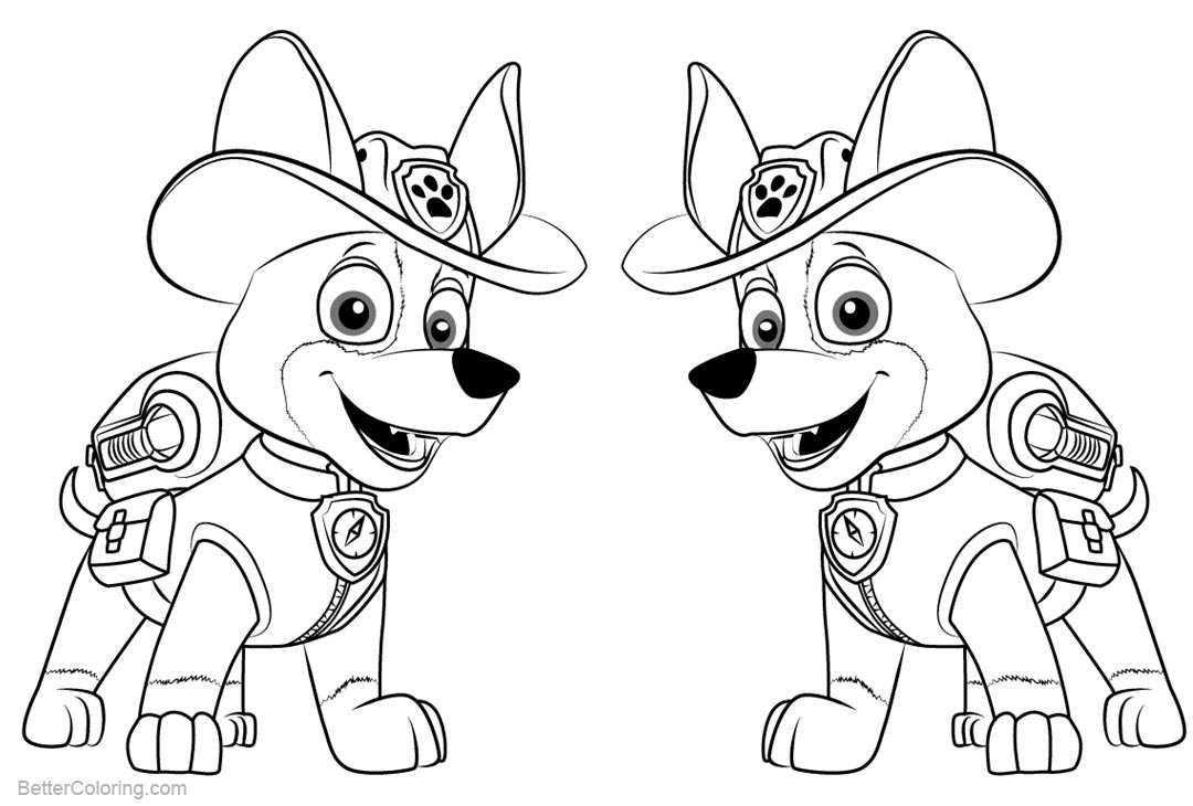 Paw Patrol Coloring Pages Tracker Free Printable Coloring Pages