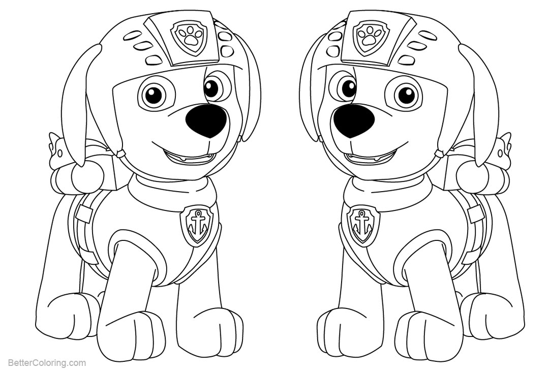 Free paw patrol coloring pages zuma printable for kids and adults